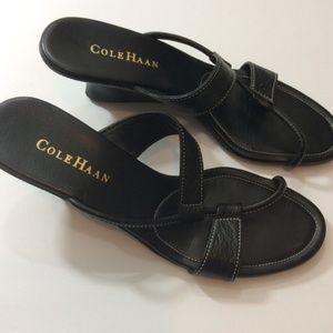 Cole Haan Shoes - Cole Haan Leather Wedge Sandals